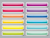 Colour glass buttons Stock Photo