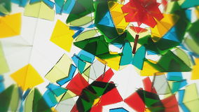 Colour Glass Kaleidoscope stock footage
