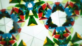 Colour Glass Kaleidoscope stock video footage