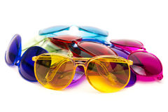 Colour glasses on the white backgroung Royalty Free Stock Images
