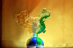 Colour glaze: china map standing on a earth Royalty Free Stock Photography