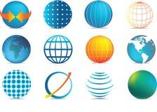 Colour globe icons Stock Image