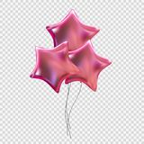 Colour Glossy Helium Balloons Isolated on Transparent Background. Vector Illustration. EPS10 Stock Photo
