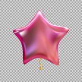 Colour Glossy Helium Balloons Isolated on Transparent Background. Vector Illustration. EPS10 Royalty Free Stock Photo
