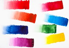 Colour gradients by watercolour Royalty Free Stock Photos