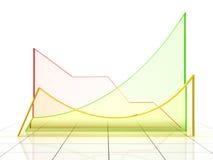 Colour graph. 3D rendering illustration Stock Image