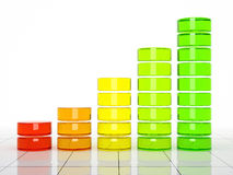 Colour graph. 3D rendering illustration Royalty Free Stock Photos