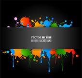 Colour grunge poster royalty free illustration