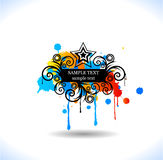 Colour grunge poster Royalty Free Stock Photography