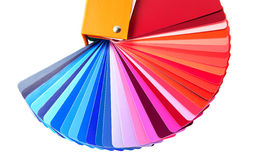 Colour guide. In blue and red tones ,close-up Stock Image