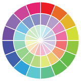 Colour guide. Illustration - Colour guide set of Swatches stock illustration