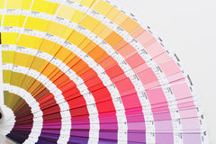 Colour guide on white back Royalty Free Stock Photo