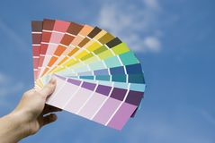Colour Guides Stock Photo