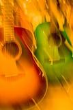 Colour guitars Stock Image