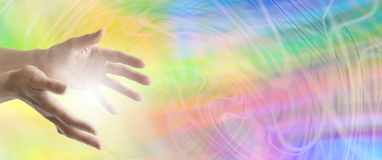 Colour Healing website banner Royalty Free Stock Photography