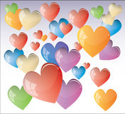 Colour hearts Stock Photos