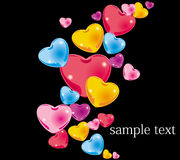 Colour hearts Stock Photography