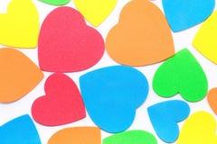 Colour hearts Stock Photo