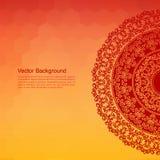 Colour Henna Mandala Background Royalty Free Stock Images