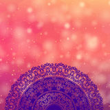 Colour Henna Mandala Background Stock Photo