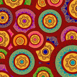 Colour Henna Mandala Background Royalty Free Stock Image
