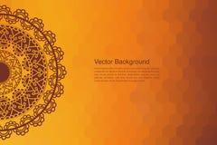 Colour Henna Mandala Background Royalty Free Stock Photography