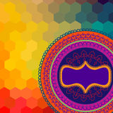 Colour Henna Mandala Background Royalty Free Stock Photos