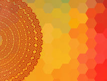 Colour Henna Mandala Background Stock Photography