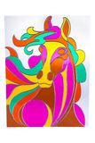 Colour horse - stained glass Stock Photo