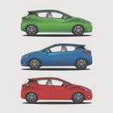 Colour i nowożytnego miasta samochodowy ilustracyjny wektor ilustracji
