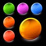 colour ikon bryłki próbki ilustracja wektor