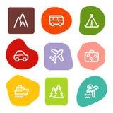colour ikon serii punktów podróży sieć ilustracji