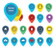 Colour illustrations of pointer icons Royalty Free Stock Photo