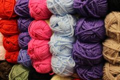 Wall of wool Stock Images