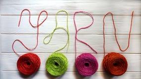 Colour jute yarn Royalty Free Stock Photo