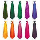 Colour krawat wewnątrz na białym tle ustawia 1 royalty ilustracja
