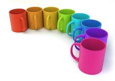 Colour kubki Zdjęcie Stock