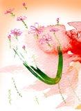 colour kwiatów woda ilustracja wektor