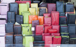 Colour leadher purses Royalty Free Stock Photography