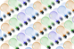 Colour Light Bulbs Royalty Free Stock Photography