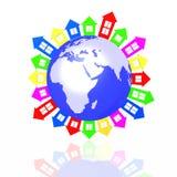 Colour lodges around the world Stock Photos