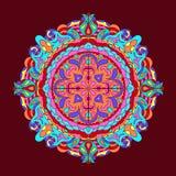 Colour Mandala background Vintage decorative elements Hand drawn Royalty Free Stock Image