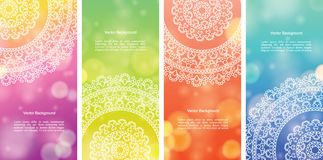Colour Mandala Banners illustration de vecteur
