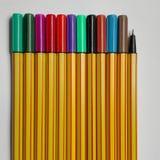 Colour marker pens Stock Image