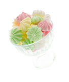 Colour meringues in a vase Royalty Free Stock Images