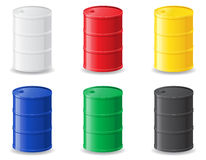 Colour metallic barrels vector illustration Stock Image