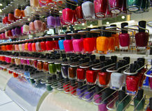 Colour of nail polish Stock Photos