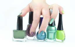 Colour nails Stock Photography