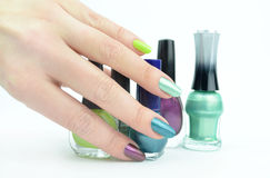 Colour nails Royalty Free Stock Image