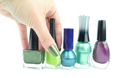 Colour nails Royalty Free Stock Images